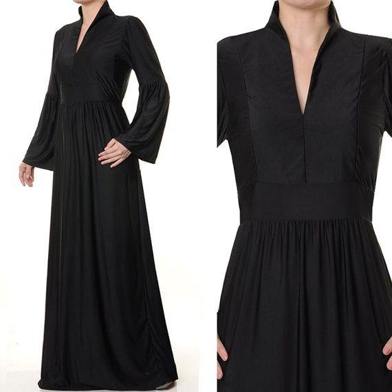 Fashion Islamic Mandarin Neck Ladies Abaya Long by MissMode21