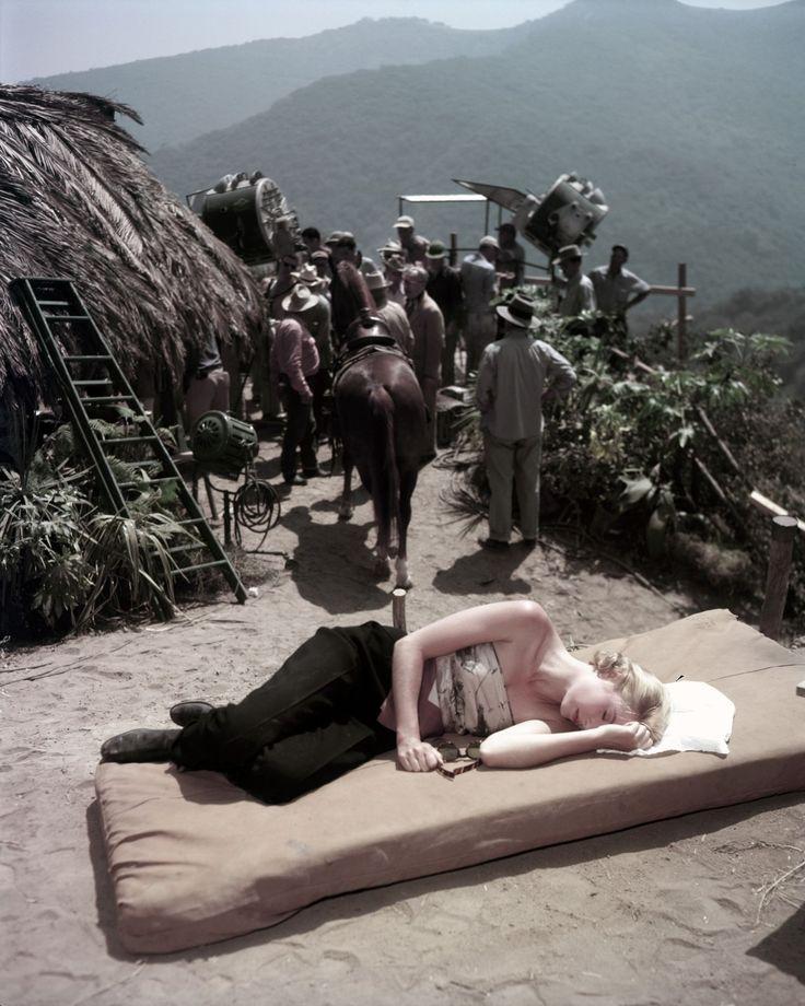 Grace Kelly on the set of 'Mogambo'