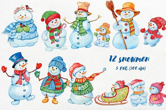 This set is well suited for the production of greeting cards ,stickers,pages for albums scrapbooking for any Christmas designs 7 files : •12 snowmen on 5 PNG files (300 DPI) (on a transparent background) • 1 JPEG with snowmen and plate for text (4841 pix on 3208 pix) (300 DPI) • 1 JPEG plate for text For personal use or small commercial use. Please contact me if you need a commercial license --- You may NOT: • Claim it as yours • Sell it as is • Offer it for free • Sell as a part of an...