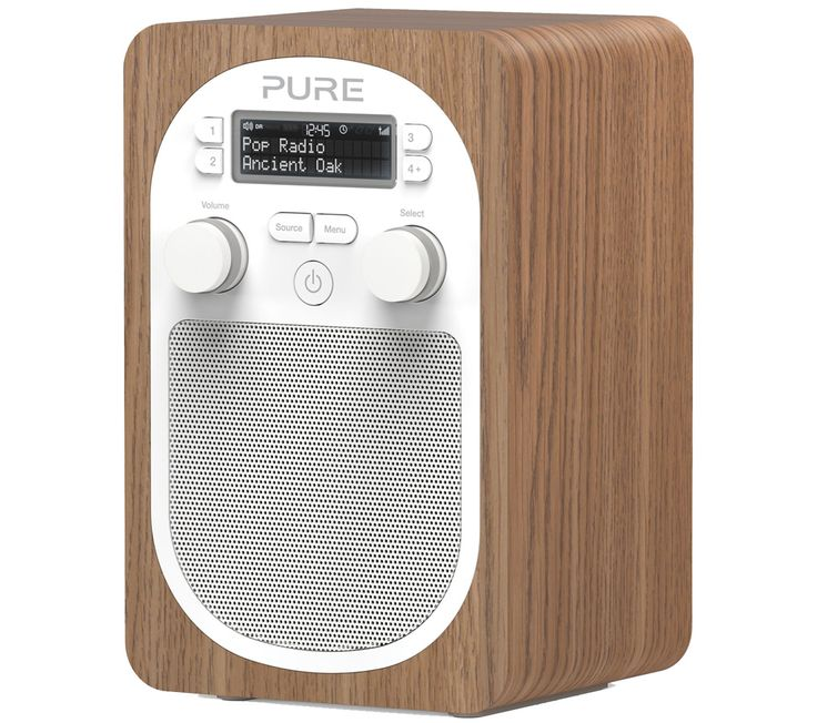 PURE Evoke D2 Portable DAB Radio - Oak