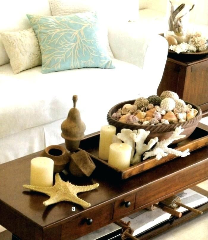 Image Result For Ocean Theme Centerpiece For Coffee Table With Images Coffee Table Centerpieces Decorating Coffee Tables Beach Theme Decor