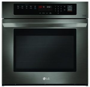 single electric wall oven with probake convection in black stainless steel at the home depot mobile