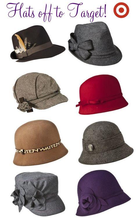 Fall hats at Target
