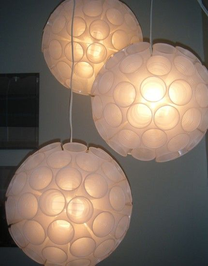 recycled plastic cup light:)