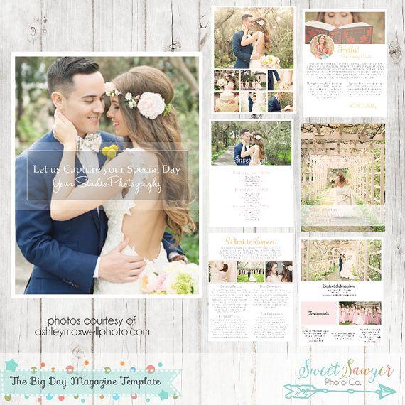 Wedding Magazine Template for Photographers - Photography Marketing