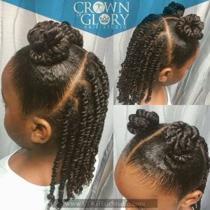 Coiffures naturelles pour les petites filles noires #Natural #NaturalHair #Hairstyles #B …