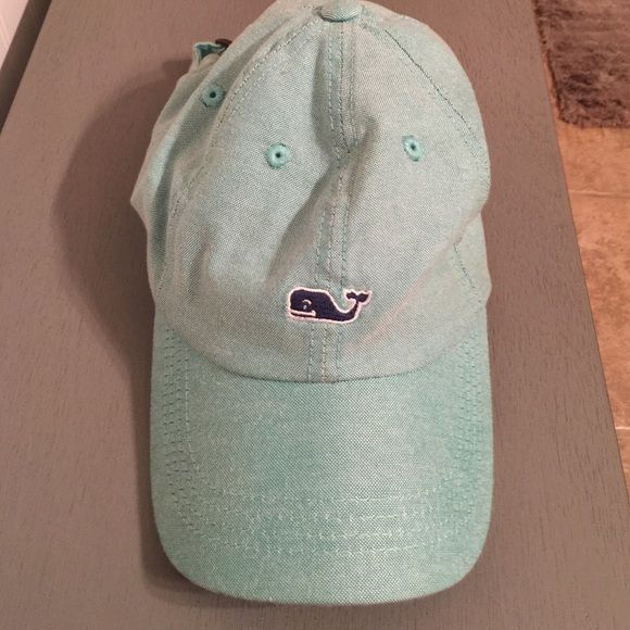 Vineyard Vines logo hat green with navy logo vineyard vines hat! worn once and very clean! will throw in foam whale hat if purchased :) Vineyard Vines Accessories Hats