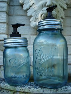 LARGE Vintage Tinted KERR Mason Jar Hand by bittersweetlemonade