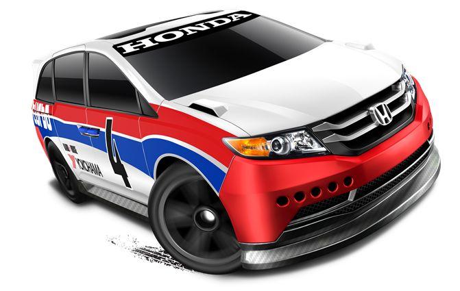 Avec l'Integra et le CRX, la marque Honda aura le droit à une autre Hot Wheels dans la collection Mainline de cette année. Il s'agit du monospace Odyssey qui doit faire partie des véhicules les plus vendus au Japon malgré sa taille imposante. C'est vrai qu'à première vue une voiture familiale en Hot Wheels ce n'est pas top mais les japonais et les américains arrivent à faire de belles réalisations avec en vrai.