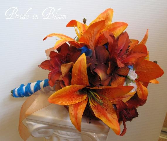 silk wedding tiger lily flowers