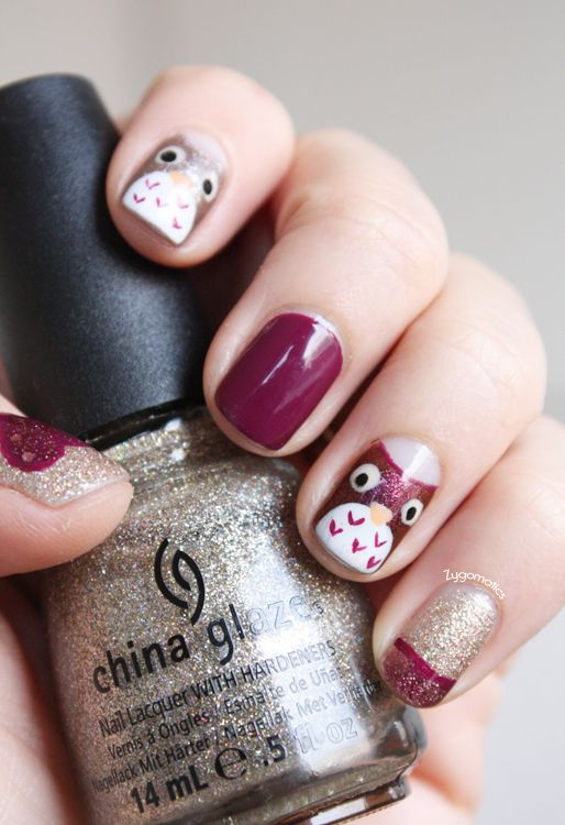 Zygomatics, 11/2012: Nail Art - Small Owls