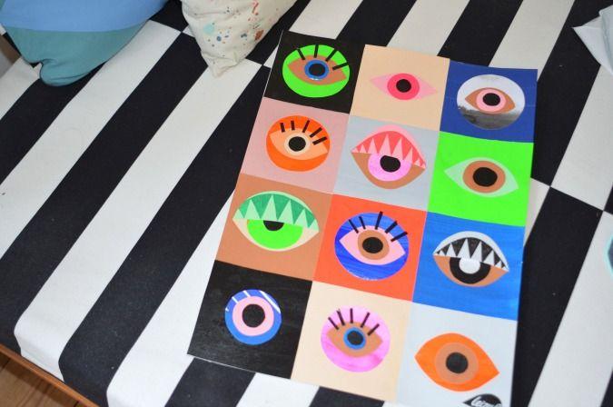 LeizyB collage med øjne