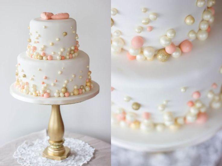 Hochzeitstorte mit gold und apricot @suess-und-salzig