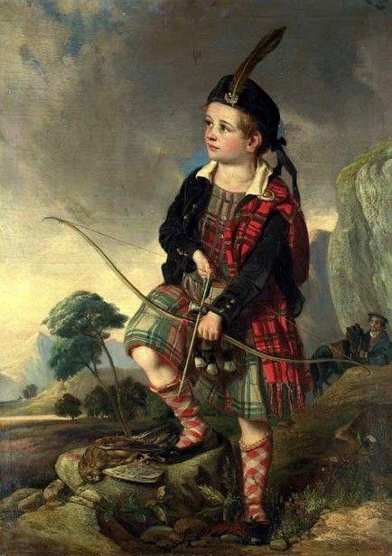"""The Young Highlander"" by John Thomas Peele (1822 – 1897, English)"