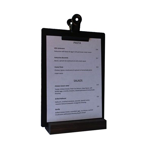 Small Black clipboard with black timber block