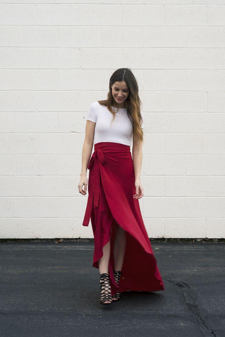 DIY Maxi Wrap Skirt Tutorial