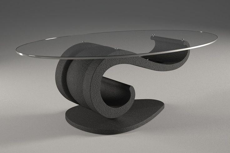 Articolo 62B-3     Tavolino da salotto Lisa - Finitura: grafite.Misure: cm 110 x 65 - Altezza: cm 37 - Peso: Kg. 51