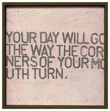 Your Day Will Go' Pink Distressed Reclaimed Wood Wall Art - Small - eclectic - Prints And Posters - Kathy Kuo Home