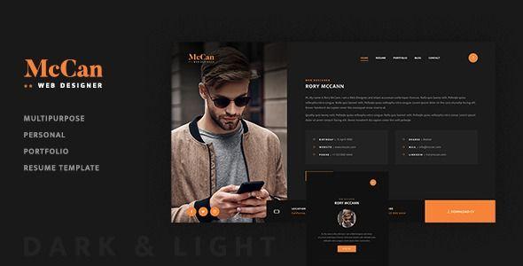 Mccan Creative Personal Portfolio Template Stylelib Portfolio Templates Personal Portfolio Portfolio Resume
