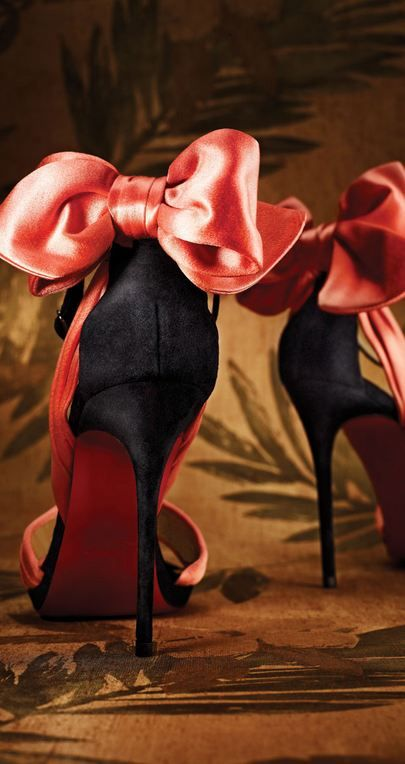 Christian Louboutin. Paris. Bows. Pink.