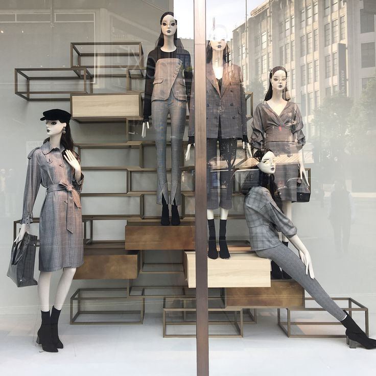 """ZARA, Oxford Street, London, UK, """"Weather Forecast: Cold Conditions & Hot Fashion"""", (Fall/Autumn/Winter), photo by Amanda Britton , pinned by Ton van der Veer"""