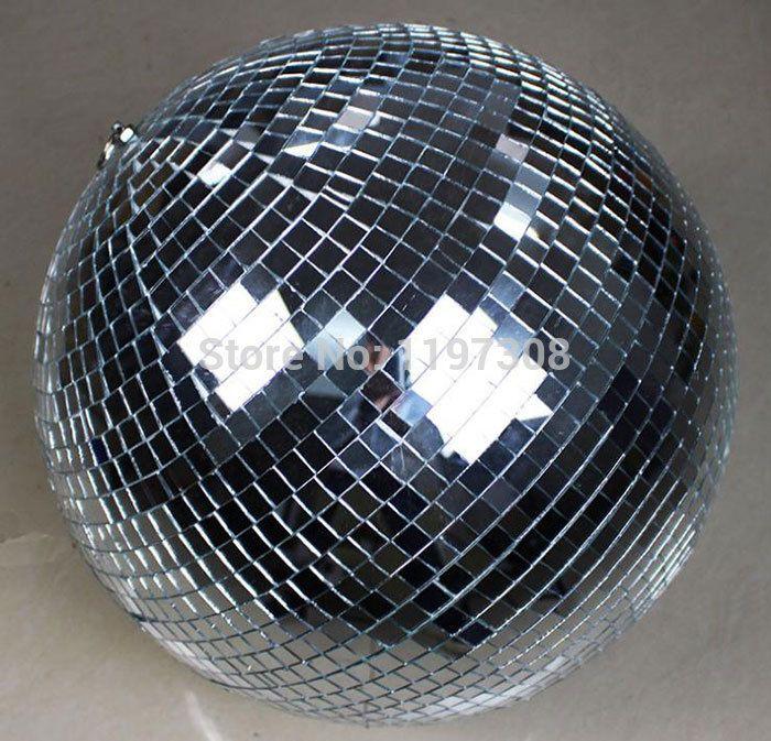 "D25cm glass rotating mirror disco ball 10"" disco DJ party lighting home party stage KTV Bars shop holiday X'mas decoration balls"