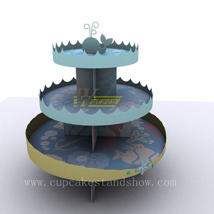 Original Ocean Star Design Cardboard Cupcake Stand for Party, This pattern is designed by our designer. We can offer the same artwork for you. Your party will look great on this easy-to-assemble cardboard cupcake Stand decorated.It is very popular in all kinds of party.