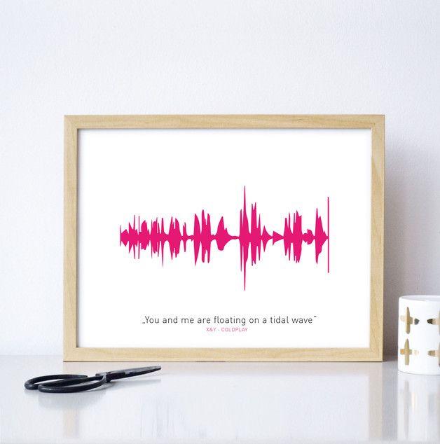 Ein individuelles Geschenk zu Weihnachten: Dein Lieblingslied als Kunstdruck / a personal gift idea: your favorite song as an artprint made by Formart-Zeit für Schönes via DaWanda.com