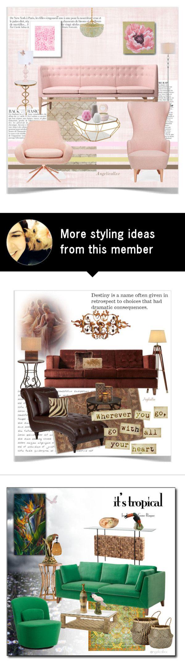 """Simply Pink"" by angelicallxx on Polyvore featuring interior, interiors, interior design, дом, home decor, interior decorating, Anja, Safavieh, Regina-Andrew Design и &Tradition"