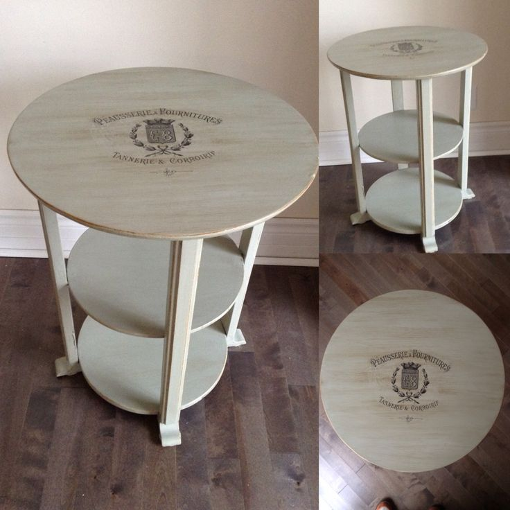 Chalk Painted Duck Egg Blue Coffee Table Round My