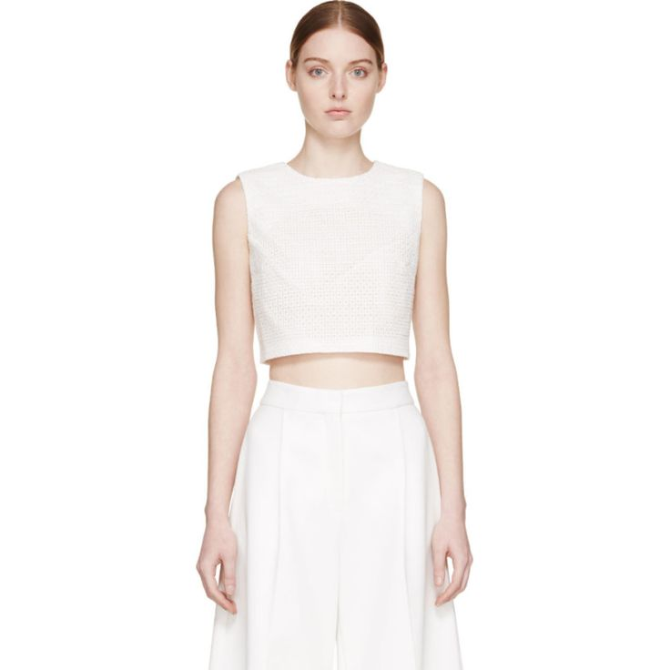 Edit - White Cut-Out Crop Top
