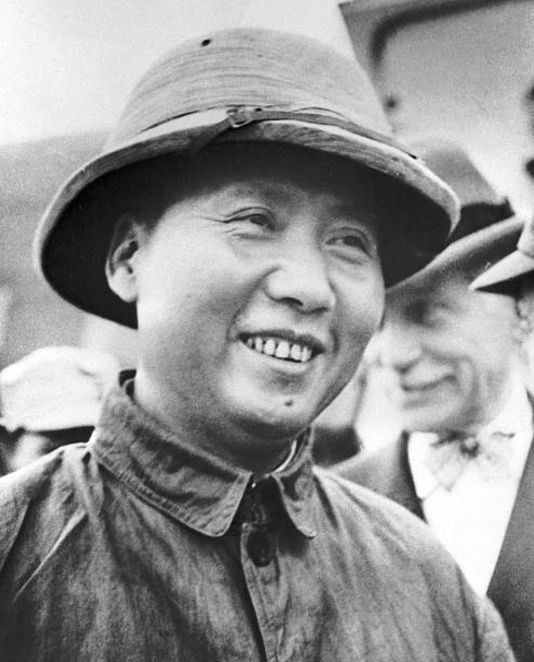 Mao Visiting Chong Qing in 1946 to negotiate a peace with the Nationalist government.