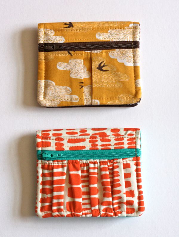 Look what my mom (alias Grandma G) sewed me: a couple Get Carded wallets from the pattern by Erin Erickson...