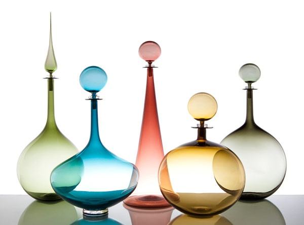 Gorgeous wine decanters    Joe Cariati Glass Collection, Glassblower in Los Angeles, Contemporary Decanters