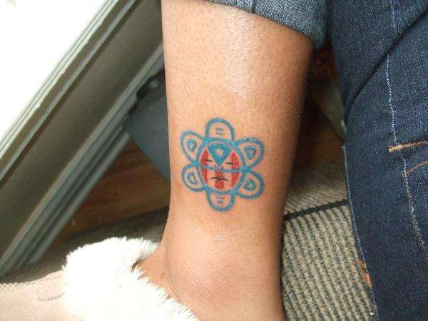 Colored Small Taino Tattoo #tribaltattoo #tainotattoo #smalltattoo