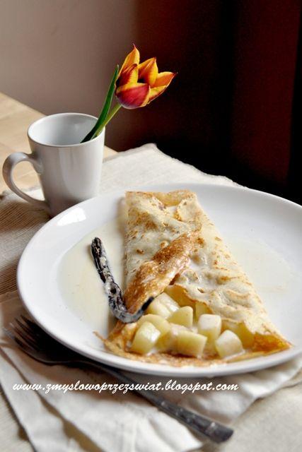 Kulinarne podróże: W a n i l i o w o mi!... Naleśniki z gruszką i śm...
