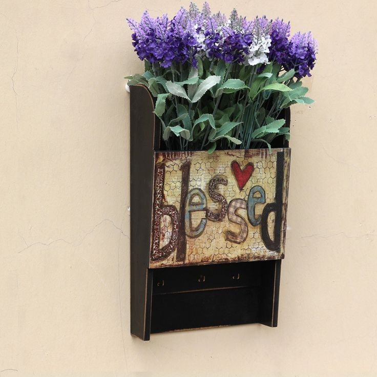 ==> [Free Shipping] Buy Best American Style Countryside Vintage Wall Shelf Wooden Wall Hanger Racks Key Powerful Storage Hook Fashion Flower Pot Online with LOWEST Price | 32777234279