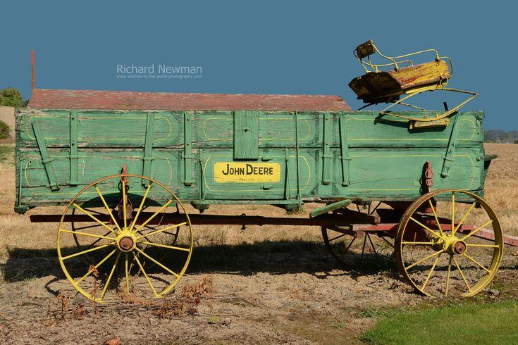 rustic farm machinery | Deere Wagon, Farm Equipment, Americana art, Old green wagon, Rustic ...