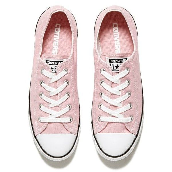 Converse Women's Chuck Taylor All Star Dainty OX Trainers - Pink... (135 PEN) ❤ liked on Polyvore featuring shoes, sneakers, pink shoes, converse sneakers, pink sneakers, converse shoes and converse footwear