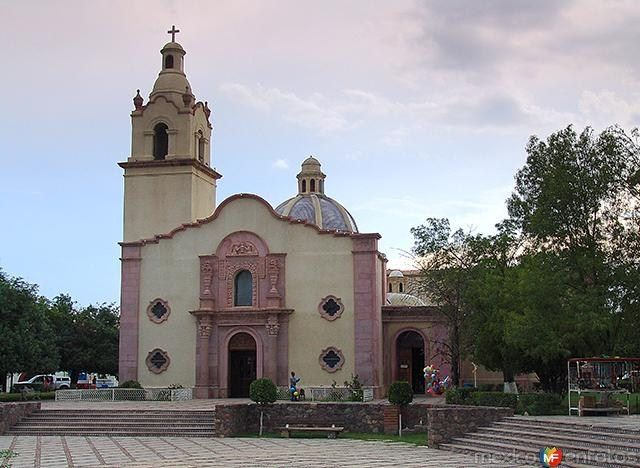 The church of Santa Maria Magdalena in Magdalena de Kino, Sonora, Mexico is a pilgrimage destination for many Mexicans and Americans. The church houses a miraculous reclining image of St. Francis Xavier, similar to the one at San Xavier del Bac in Tucson.