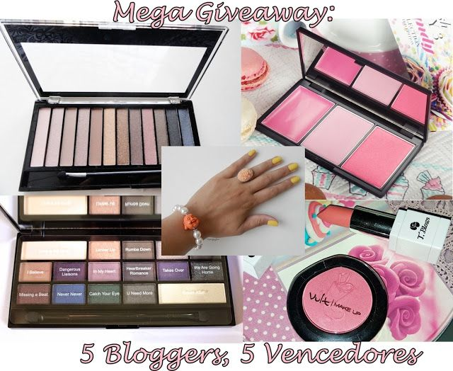 Flash's by Cinha Pacheco: Mega Giveaway: 5 Bloggers, 5 Vencedores
