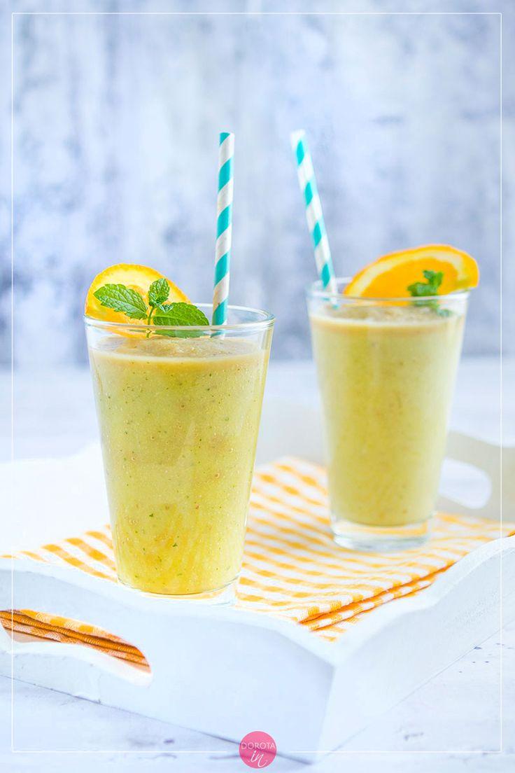 Koktajl z melona, zielony i orzeźwiający, delikatnie słodki. #smoothie #koktajl #melon #przepis