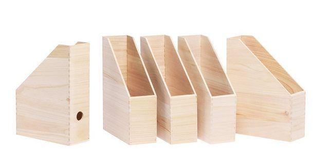 """Holz-Stehsammler """"Heft"""" 5 Stück unbehandelt"""