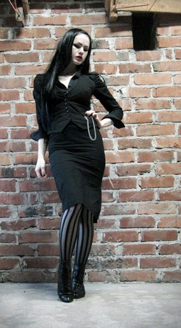 This is how I'll dress once I'm licensed, goth, yet professional.