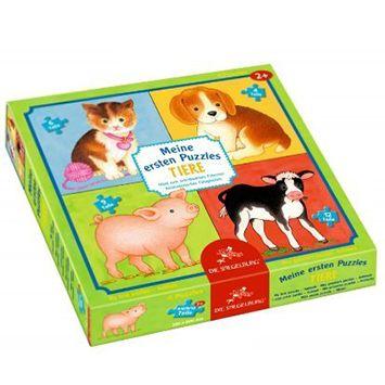 4 Παζλ Ζωάκια (4, 6, 9, 12 τμχ) | Το Ξύλινο Αλογάκι - παιχνίδια για παιδιά