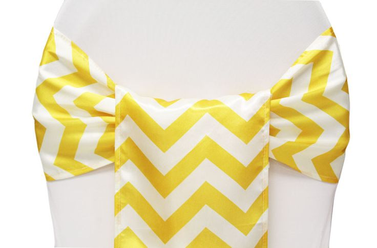 Chevron Sash Rental. Available In Yellow, Fuchsia, Gray, Green Apple,  Orange U0026 Turquoise. Matching Table Runner And Overlays Available. See The  Colu2026