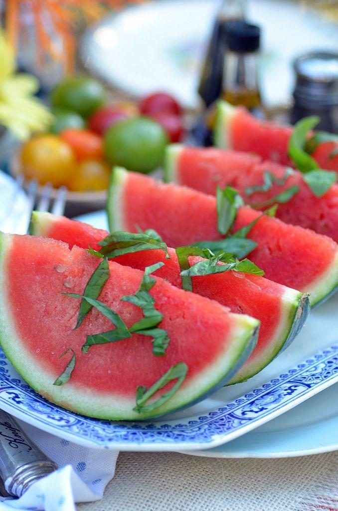refreshing basil watermelon