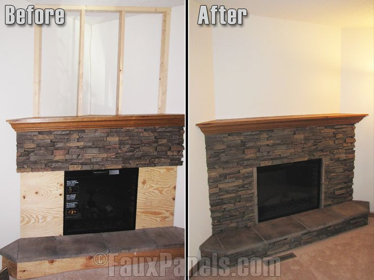 Faux stone panels for fireplace are an extremely affordable option in comparison to real stone.