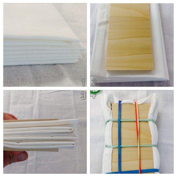 DIY Shibori Bedding - Pillowcase Steps