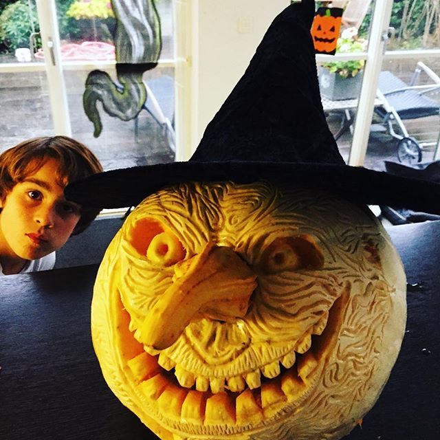 My son Marcus @marcusgottliebjakobsen behind his #jackolantern creation #halloween  #ghost #pumpkins #scary #pumpkin #spooky #october #trickortreat #fall #boo  #ghosttown #halloweenparty #jackolanterns #ghosts #party #costume #orange #candy #fun #picoftheday #costumes #diyhalloween #halloweendecoration #happy #goodtimes #love #nightout #witch